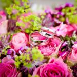 Flowers bouqet mariage rings